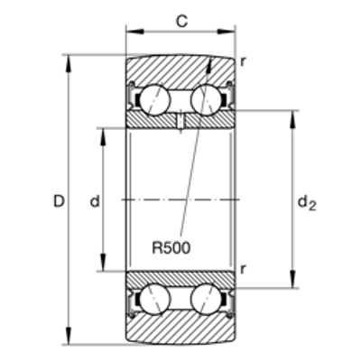 Подшипник LR50/8-2RSR